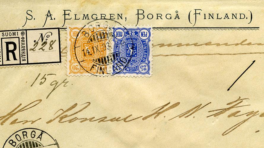 Russificering van Finse zegels eind 19e eeuw