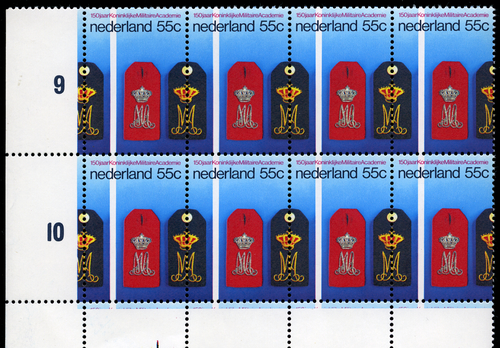 Postzegels in gulden-waarden